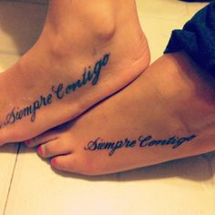 """Siempre Contigo means """"always with you"""" i think this will be my next tattoo."""