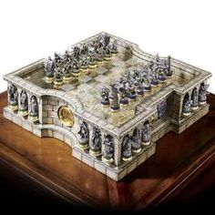 """Lord of the Rings Chess Set This is on my """"Wish List"""""""