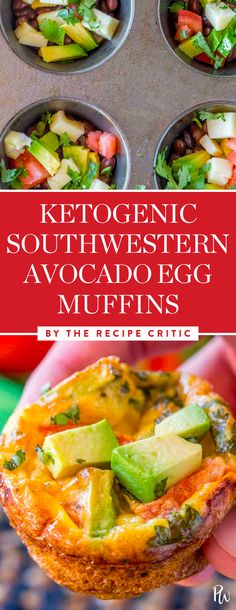 Get the tasty recipe for these southwestern avocado egg muffins by the Recipe Critic, and more of the best ketogenic breakfast recipes you'll love. #breakfastrecipes #ketogenicrecipes #ketorecipes #keto #ketogenicdiets #ketodiets
