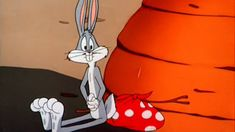 """Bugs - """"That's funny, I can swear I smell carrots"""" As he just awoke from napping against one. Bugs Bunny Cartoons, Looney Tunes Cartoons, Old Cartoons, Classic Cartoons, Best Cartoons Ever, Cartoon Characters, Fictional Characters, Vintage Cartoon, Warner Bros"""