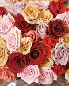 Glitter Roses - From this point on all my flowers will fall prey to my glitter obsession