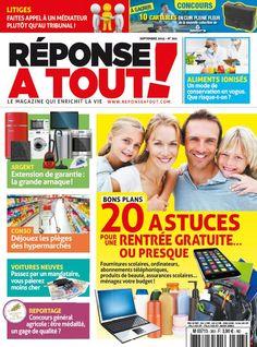 """Réponse à Tout! n°303 - Septembre 2015 : """" 20 astuces pour une rentrée gratuite ou presque """" #rentrée #astuces #conseils #presse #magazine"""