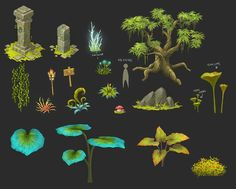 3d forest props - Google Search