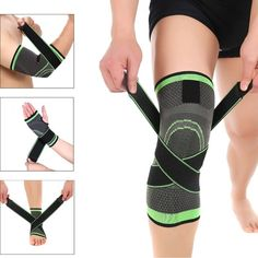 Sports & Entertainment Black White Short Lycra Knee Pad Silicone Anti-slip Fitness Running Leg Warmers Basketball Football Knee Support Brace Protector Relieving Rheumatism Sports Safety