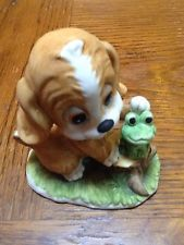 Vintage LEFTON China Hand-painted Figurine of Cocker Spaniel Puppy Dog - #1316