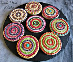 Mosaic Cookies by Wish I Had A Cake