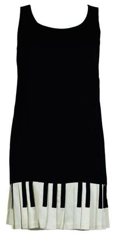That little black dress....with piano keys.  I love this dress