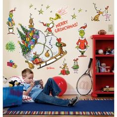 Grinch Giant Wall Decals