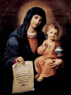 The miraculous image of Our Lady of the Letter, the patroness of Messina, Sicily.