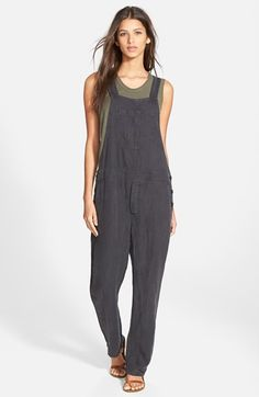 James Perse Linen Overalls available at #Nordstrom