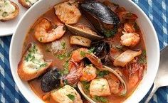 Cioppino Seafood Stew with Gremolata Toasts / Charles Masters, food styling by Sue Li