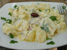 Greek Dishes, Cooking Recipes, Healthy Recipes, Greek Salad, Salad Bar, Greek Recipes, Tasty Dishes, Salad Recipes, Potato Salad