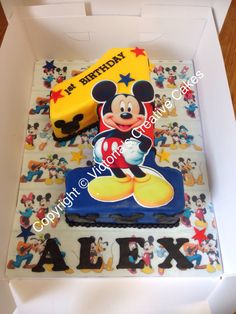 Mickey Mouse number 1 birthday cake
