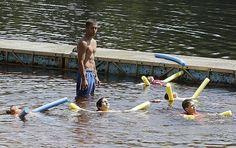 Photos: Kids beat the heat at Ames Pond in Stoughton - The Enterprise, Brockton, MA - Brockton, MA