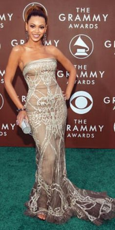 Beyonce 2006 Grammy Elie Saab Dress