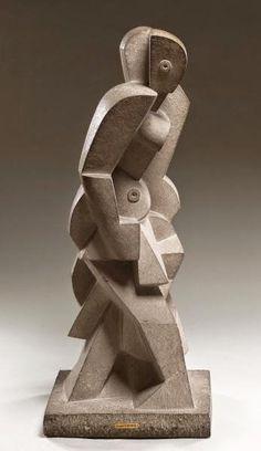 Bather 1917 Limestone 36 1/2 x 14 1/2 x 12 in. (92.7 x 36.8 x 30.5 cm) The Barnes Foundation, Merion Station, PA, USA