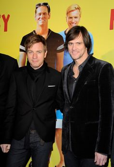 """Jim Carrey Photos - Actors Ewan McGregor (L) and Jim Carrey (R) attend the Premiere of """"I Love You Philip Morris"""" film at Cinematheque Francaise on February 2010 in Paris, France. - """"I Love You Philip Morris"""" Paris Premiere Phillips Morris, Famous Movie Quotes, Albert Einstein Quotes, Ewan Mcgregor, Kevin Hart, Jim Carrey, Chuck Norris, Strong Women Quotes, Funny Movies"""