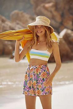 New Clothing for Women | Anthropologie Beach Wardrobe, Tube Top Dress, Farm Rio, Tie Dye Sweatshirt, Cropped Cardigan, 50 Fashion, Mixing Prints, Summer Looks, Fashion Forward