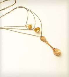 Brass Tea Set Necklace