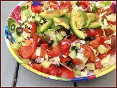 Gluten Free A-Z : Easy Summer Salad with Colors of the Rainbow