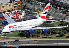 Low over the In-N-Out on short final for runway 24 Right at LAX