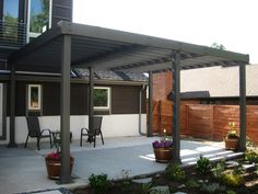 modern wood pergola - Google Search