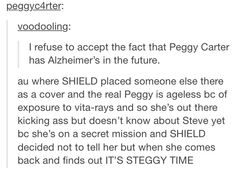 I refuse to accept the fact that Peggy Carter has Alzheimer's in the future.
