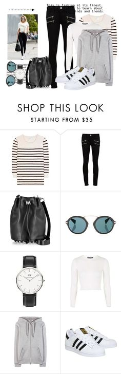 """""""Get Gigi's Sporty Look"""" by hattie4palmerstone ❤ liked on Polyvore featuring Closed, Paige Denim, Alexander Wang, Yohji Yamamoto, Daniel Wellington, Topshop, T By Alexander Wang, adidas, women's clothing and women"""