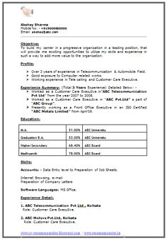 Resume Format For MA Experience Resume Format Examples, Cv Format, Student Resume Template, Resume Templates, Resume No Experience, Curriculum Vitae Resume, Post Date, Best Resume, Word Doc