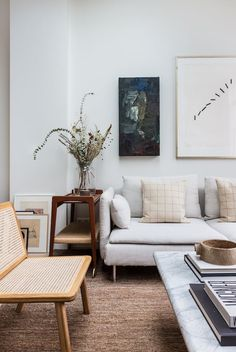 Steal This Look An Interior Designer s High Low Scandi Living Room Ikea Sofa included - Remodelista Farm House Living Room, Room Design, Interior, Ikea Living Room, Living Room Scandinavian, Home Decor, Room Inspiration, House Interior, Interior Design