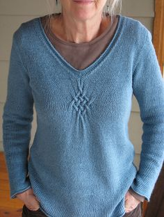 sport weight. Ravelry: Gathered Pullover pattern by Hana Jason