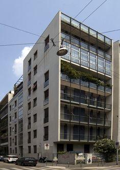 Das Gebäude der Via Anelli 9, Giancarlo Malchiodi, 1955-1957
