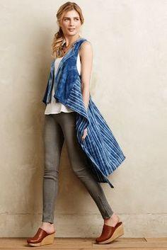 Amadi Indigo Sweeper Vest #anthrofave