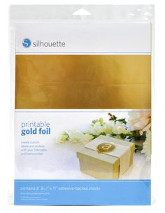 Silhouette America - Printable Gold Foil - These anodized metal sheets are perfect for etching because the colored surface contrasts with the silvery aluminum underneath.
