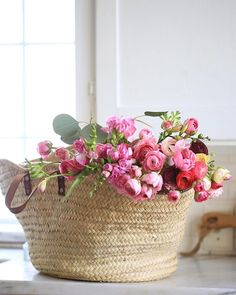 A blooming French market bag is always a good thing don't you think? :) Working on gathering a few photos for a special project & bumping into some fun oldies to share. Happy Friday everyone. Pink Roses, Pink Flowers, Basket Of Flowers, Blooming Flowers, Wicker Picnic Basket, Enchanted Florist, French Country Cottage, Rose Cottage, Flower Market