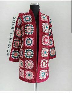 Crochet Coat, Crochet Jacket, Crochet Cardigan, Crochet Granny, Crochet Shawl, Crochet Clothes, Crochet Summer Dresses, Square Patterns, Pullover