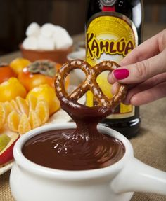 Dreamy Chocolate Fondue...secret ingredient Kahlua