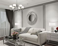 Дизайн двухкомнатной квартиры в ЖК Павловский квартал. Интерьер в стиле неоклассика