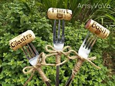 Im always looking for garden labels that dont fade.  Lord knows I drink enough wine; Ill just stab a new cork from my stash when these fade! garden-ideas