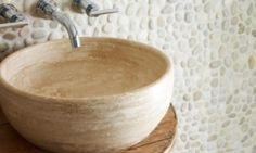 Travertine Basin - Mandarin Stone