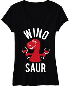 WINOSAUR Black V-Neck Shirt at www.MrsBridalShop.com, Click here to buy http://mrsbridalshop.com/collections/bridesmaids/products/winosaur-black-v-neck-shirt