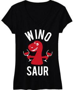 WINOSAUR Black V-Neck Shirt at www.MrsBridalShop.com, Click here to buy http://mrsbridalshop.com/collections/bridesmaids/products/winosaur-black-v-neck-shirt