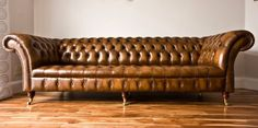 Ebay £1260 - new MODERN HANDMADE ANTIQUE GOLD LEATHER 4 SEATER CHESTERFIELD SOFA, COUCH, SUITE