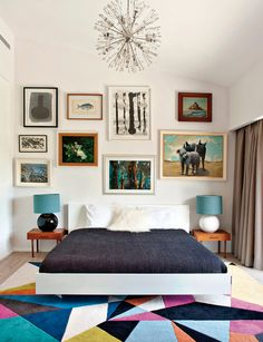 That rug and bed and lamps....perfect