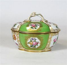 Dresden Bowl and Cover, late 19th Century