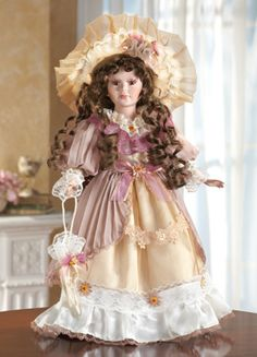 Katherine Victorian Collectible Porcelain Doll