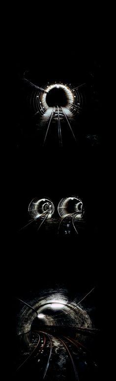 the tunnels / Dark Space by Brendan Austin