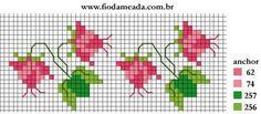Ancora fiori per bordura: qui i protagonisti sono i piccoli fiori, quelli più facili e veloci da realizzare a crocette