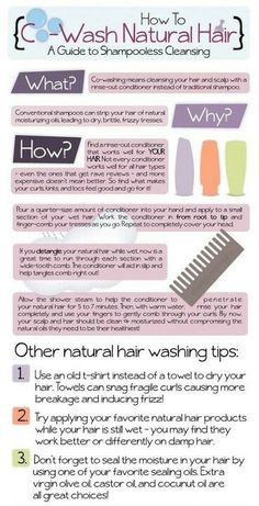 Hair tips Hair care Ideas : How to Co-Wash Natural Hair.I have been using this method for about a year and. Hair care Ideas : How to Co-Wash Natural HairI have been using this method for about a year and Cabello Afro Natural, Pelo Natural, Natural Curls, Natural Waves, Natural Hair Care Tips, Natural Hair Styles, Natural Hair Journey Tips, Natural Beauty, Co Wash Conditioner