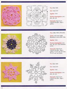100 MODELOS DE FLORES PARA TEJER A CROCHET CON PATRONES GRÁFICOS BIEN EXPLICADO (FACILISIMO VS UTILISIMA) | Patrones Crochet, Manualidades y Reciclado